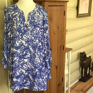 Chaus pretty blue and white tunic 2x